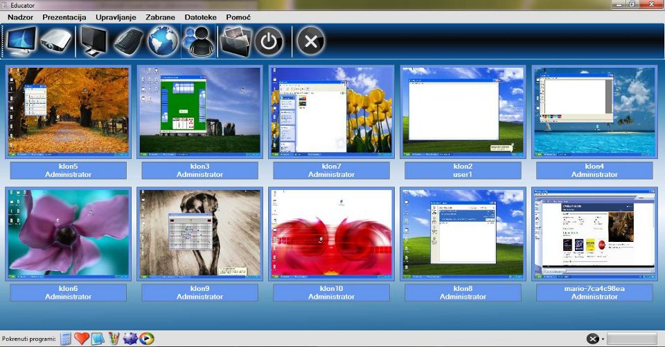 Educator - software for classroom managment - screenshot